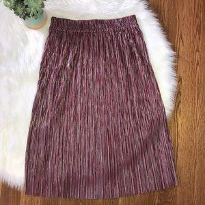 The Odells Burgundy Midi Skirt Size Small NWT